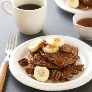 Banana-Maple-Pecan Pancakes.