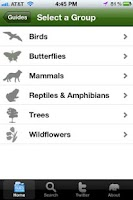 Screenshot of National Parks Wildlife Guide