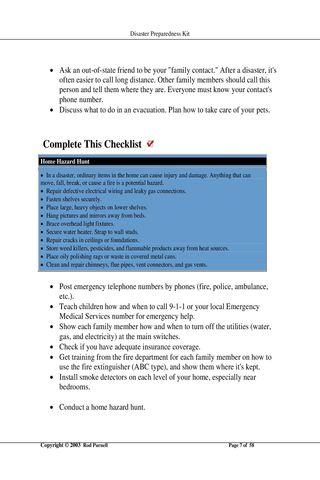Disaster Preparedness Kit FREE - screenshot