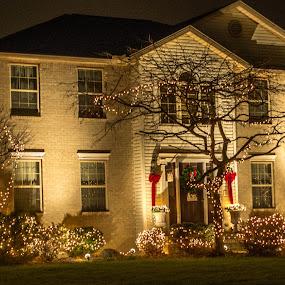 Merry Christmas by Judy Soper - Public Holidays Christmas ( lights, tyler, katelyn, santa, night, bowling, merry christmas )