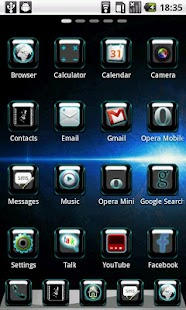 BlueSpace Theme GO Launcher - screenshot thumbnail