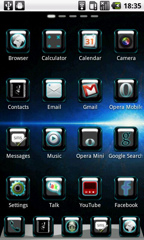 BlueSpace Theme GO Launcher - screenshot
