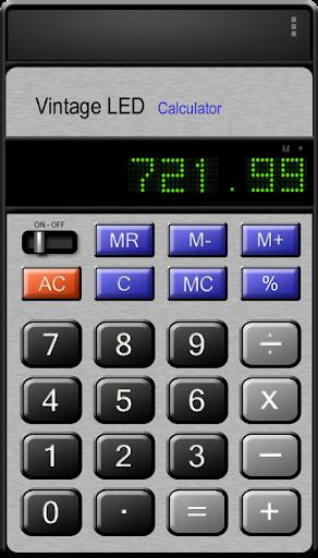 Vintage LED Calculator