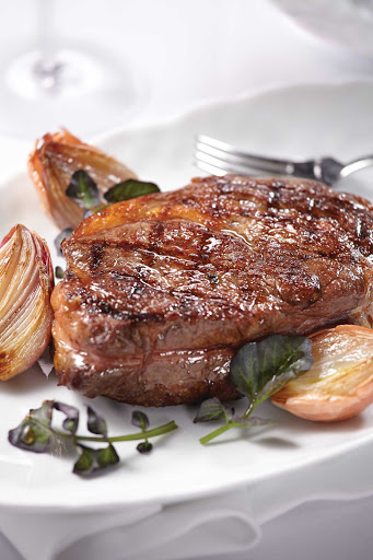 Norwegian-Cruise-Line-food-Ocean-Blue-delmonico - Delmonico is one of the most popular beef dishes in chef Geoffrey Zakarian's restaurants aboard Norwegian Breakaway and Norwegian Getaway.