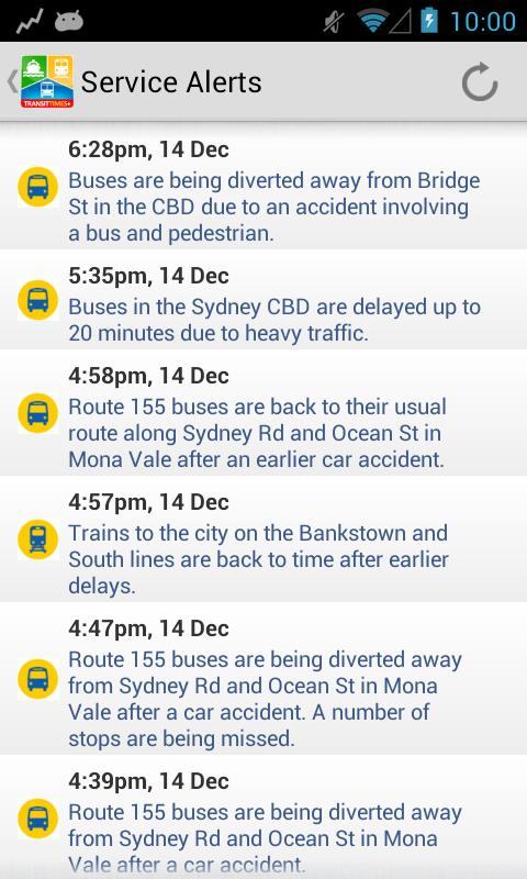 TransitTimes Free- screenshot