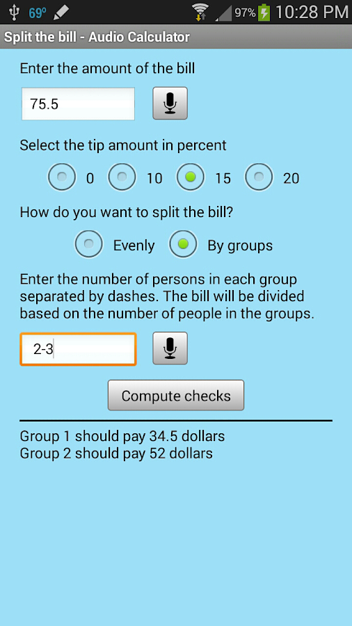 Split the Bill - screenshot