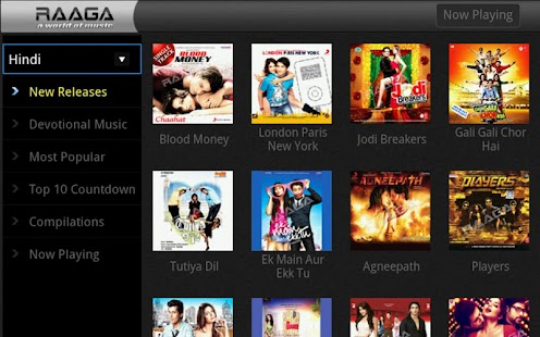 Raaga.com for Google TV - screenshot thumbnail