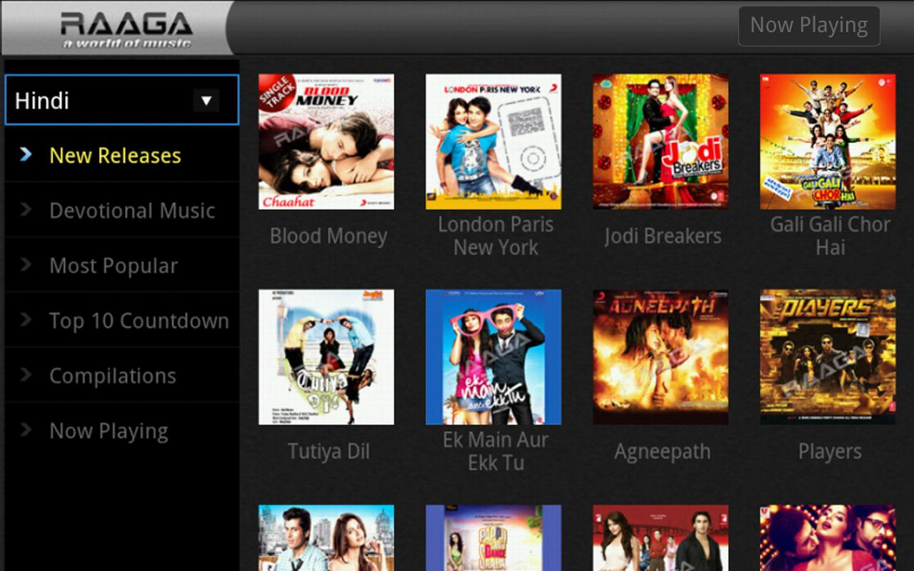 Raaga.com for Google TV - screenshot