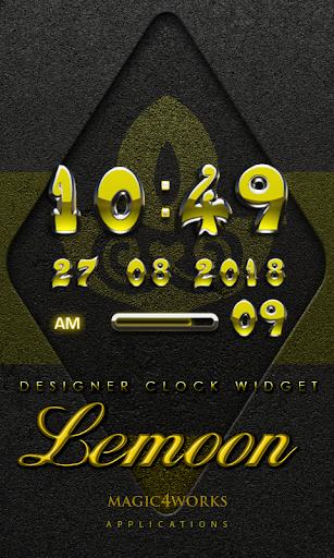 Lemoon Digital Clock Widget