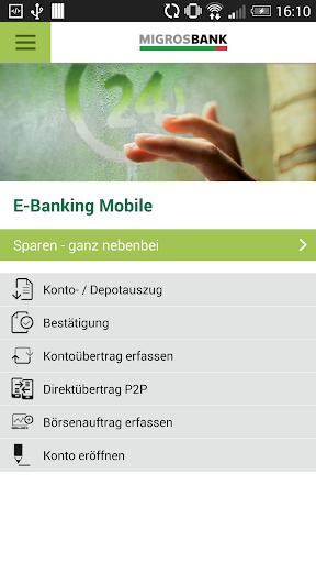 Migros Bank E-Banking Phone