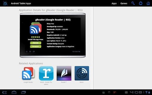 Android Tablet Apps - screenshot thumbnail