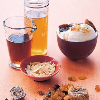 Ice Cream with Sweet Sherry Sauce.