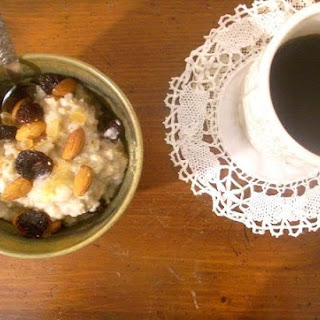 Porridge With Dried Cherries Rosewater, Vanilla And Cardamom.