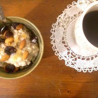 Porridge With Dried Cherries Rosewater, Vanilla And Cardamom.