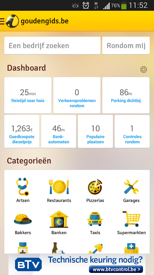 goldenpages.be- screenshot