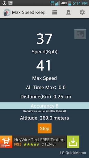 Top Speed Keeper US Metric