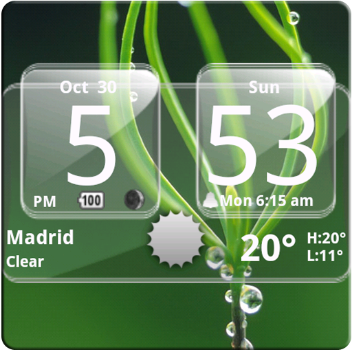 Sense Analog Glass Clock 4x2