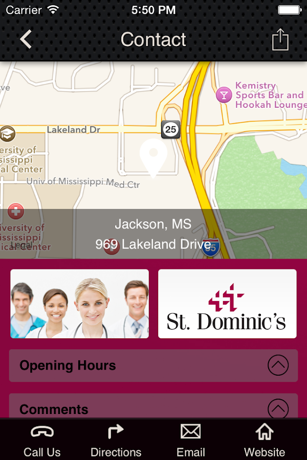 St. Dominic Hospital- screenshot