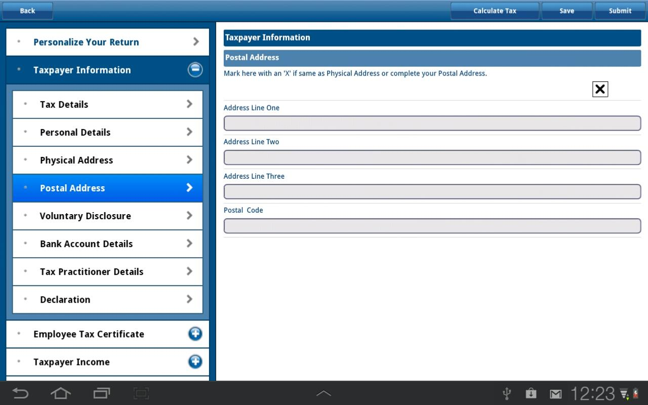 SARS Mobile eFiling - screenshot