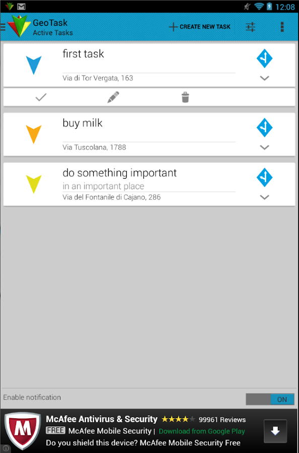 GeoTask - Location-Based Tasks - screenshot