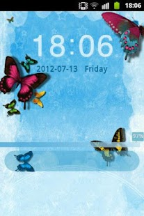 GO Locker Theme Butterfly Blue - screenshot thumbnail