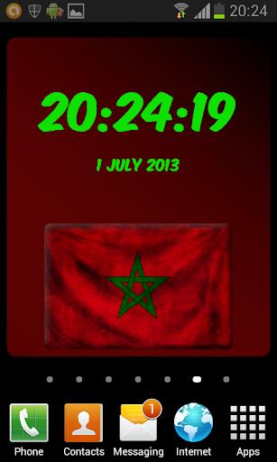 Morocco Digital Clock
