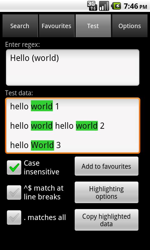 Regex Dictionary Lite - screenshot
