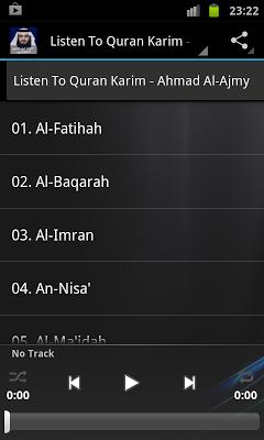 Holy Quran - Ahmad Al-Ajmy - screenshot
