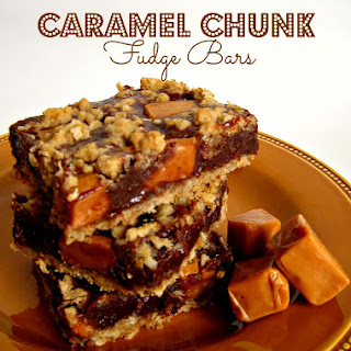 Caramel Chunk Fudge Bars.