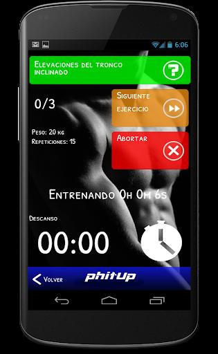phitUp: Entrenamientos