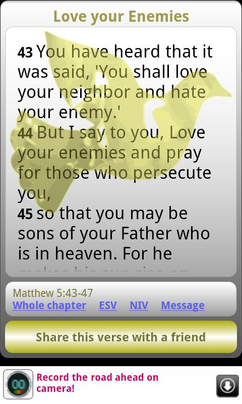 Words of Jesus Daily Bible - screenshot