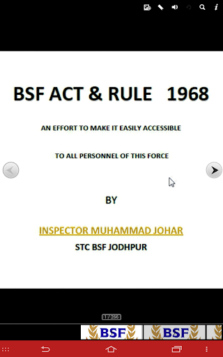 BSF ACT AND RULE 2004