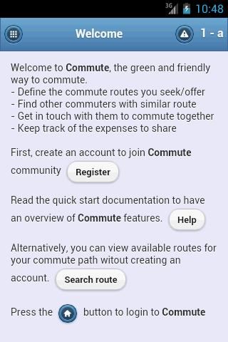 Commute web view
