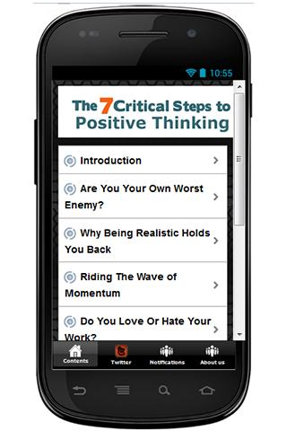 7 Steps to Positive Thinking - screenshot