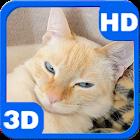 Slumbering Cat in Basket Purrs icon