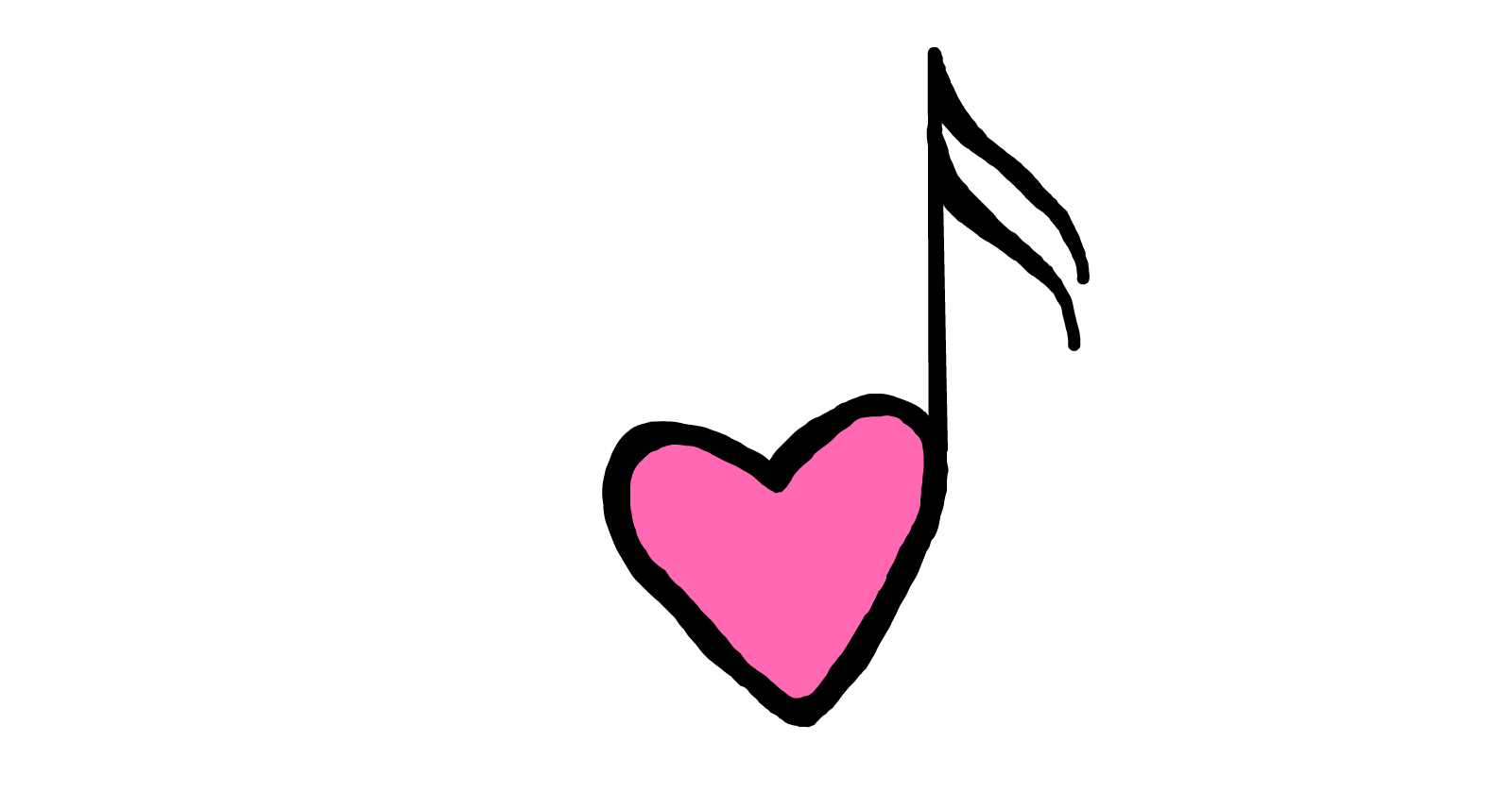 Heart Music Note