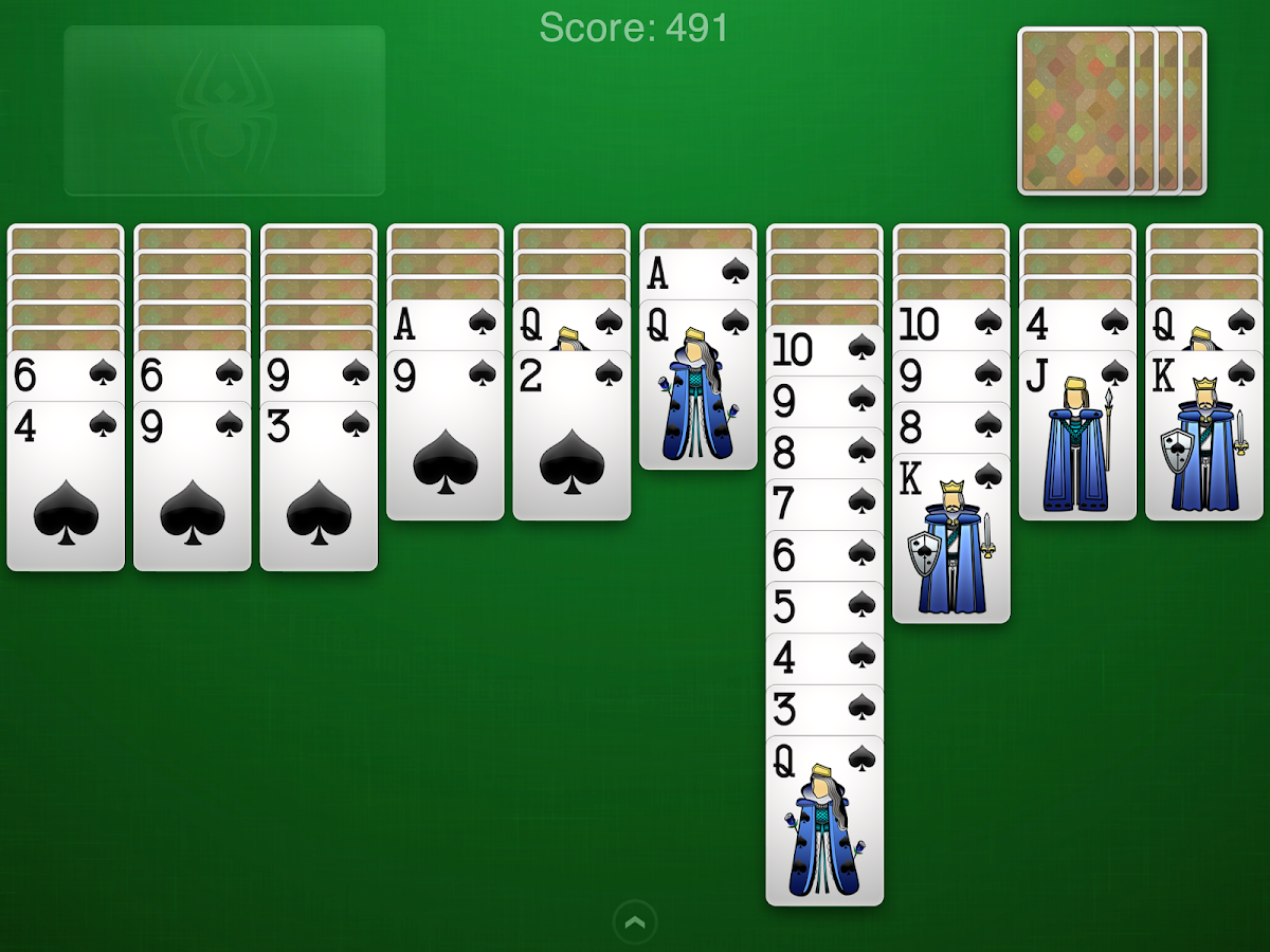 Spider Solitaire+- screenshot
