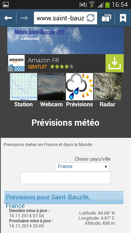 Météo Saint-Bauzile (07)- screenshot
