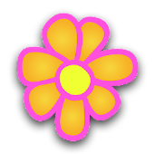 Flowers Digital Clock Widget