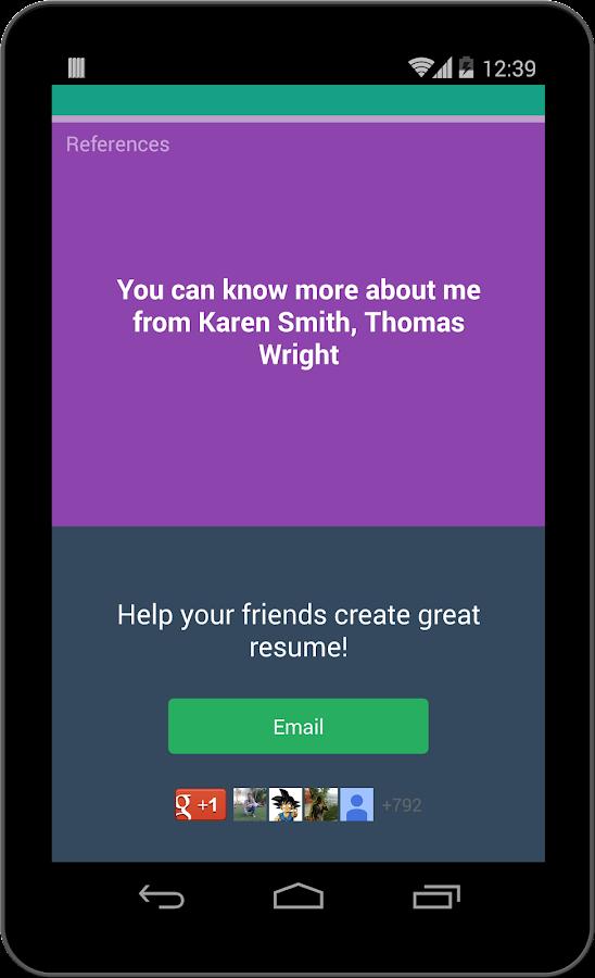 super resume builder pro cv screenshot