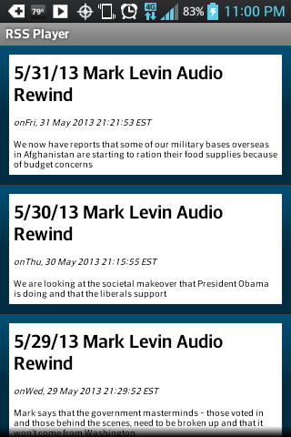 Mark Levin Podcast RSS - screenshot