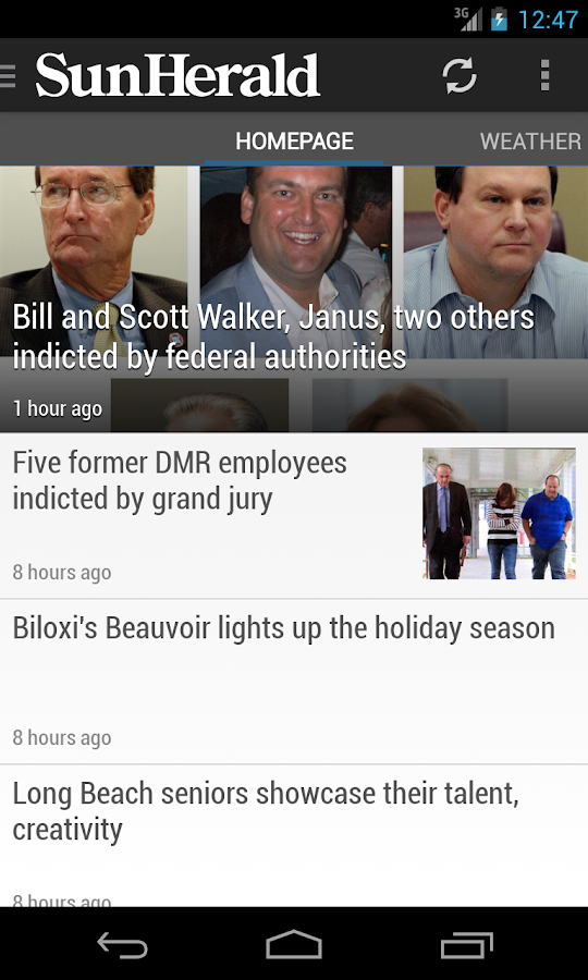 Biloxi Sun-Herald Newspaper - screenshot