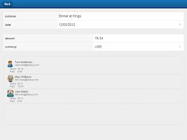 Screenshot of Billsup - split group expenses
