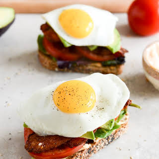 Avocado BLT's with Spicy Mayo and Fried Eggs.
