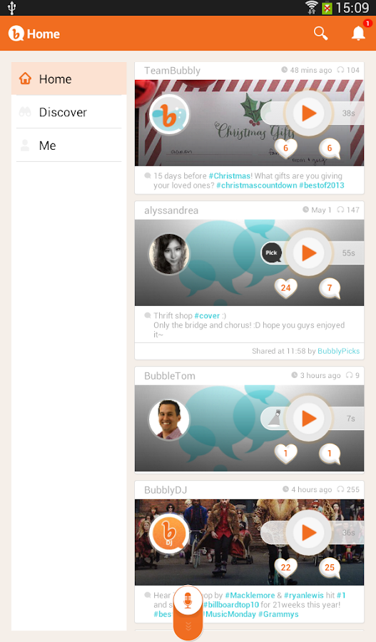 Bubbly - Social Voice - screenshot