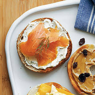 Cream Cheese and Smoked Salmon Bagel.