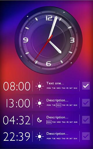 The morning alarm clock