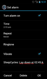 Sleep Cycles- screenshot thumbnail