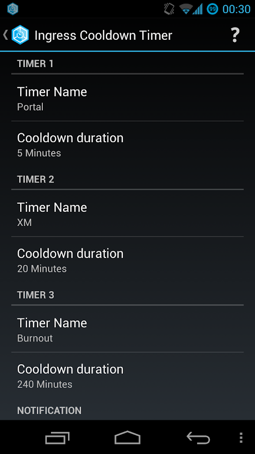 Ingress Cooldown Timer- screenshot
