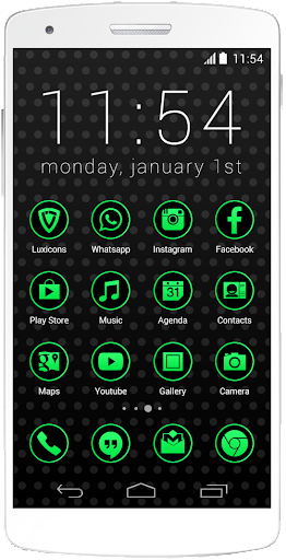 Luxicons Neon Green Black